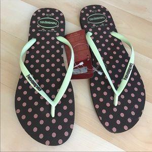 New multicolored Havaianas flip flops